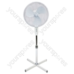 "Prem-I-Air 16"" (40 cm) White Oscillating Pedestal Fan with 3 Speed Settings MkII - Type EU Schuko"