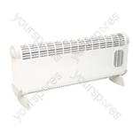 Prem-I-Air 'Bajo' 2.5kW Convector Heater With Turbo Fan - Type EU Model