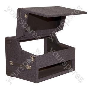 Black Carpeted Wooden Twin CD/484 mm Mixer (2U-4U-2U) Case