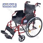 Aidapt Deluxe Lightweight Self Propelled Aluminium Wheelchair - Colour RED