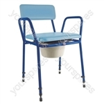 Essex Height Adjustable Commode Chair - Colour Two Tone Blue