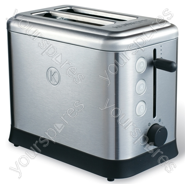 Turin Brushed Stainless Steel Toaster TTM400 by Kenwood