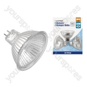 3pc Blister Card MR16 50w 12v Dichroic Halogen Bulb
