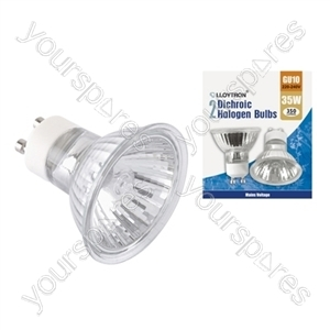 2pc Blister Card GU10 35w 240v Dichroic Halogen Bulb
