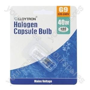 1pc Blister Card G9 40w 240v Halogen Capsule Bulb