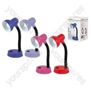35w 'Mini Classic' Small Flexi Desk Lamp - Assorted Colours