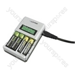 Ultra Fast Intelligent AA/AAA LCD Home Charger