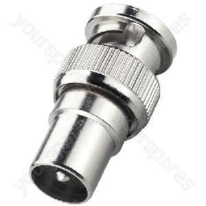 BNC Koax Adaptor - Adapter Bnc Plug/coaxial Antenna Plug
