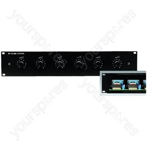 "´´19´´´´ PA Attenuator´´ - 6-way Pa Volume Controls For 482 mm (19"") Rack Installation"