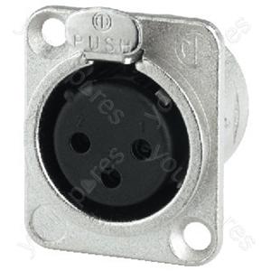 XLR Jack - Neutrik Xlr Panel Jack, 3poles