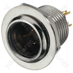XLR Plug - Miniature Xlr Panel Plug, 3 Poles