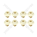Tricity Bendix Dishwasher Lower Basket Wheel Kit - Pack of 8