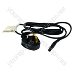Figure 8 Mains Lead 1.5 Metre 2.5v 3 Amp