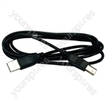 Usb Lead A-b 1.8 Metre Black