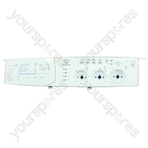 Indesit White Washing Machine Control Panel Faceplate