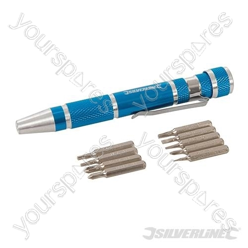 precision screwdriver set 9pce 110mm 633922 by silverline. Black Bedroom Furniture Sets. Home Design Ideas