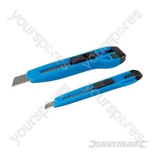 Plastic Trimmer Knife Set 2pce - 18mm & 9mm