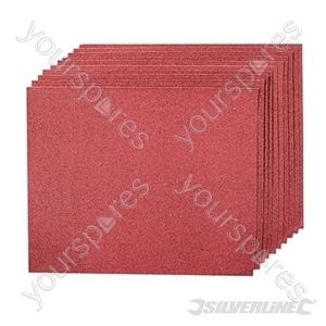 Aluminium Oxide Hand Sheets 10pk - 80 Grit