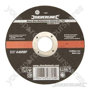 Heavy Duty Multipurpose Slitting Disc Flat - 115 x 1 x 22.23mm