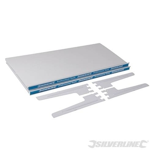 2 Metal Shelves & 4 Shelf Supports - 420mm Metal Shelf 2pk