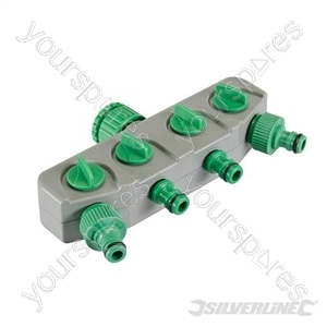 "4-Way Tap Connector - 3/4"" & 1/2"" Male"