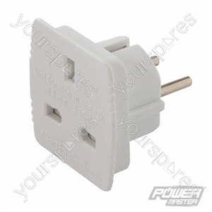 UK to EU Travel Adaptor 240V - 6A 220-240V