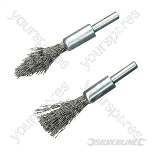 Steel De-Carb Brush Set 2pk - 6mm Shank