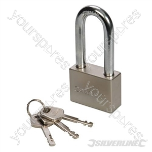 Steel Padlock Long Shackle - 40mm