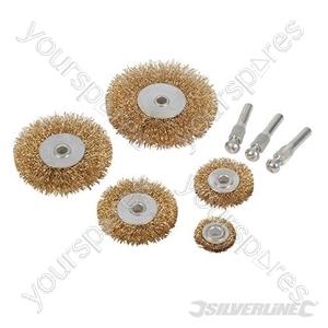 Brassed Steel Wire Wheel Set 5pce - 5pce