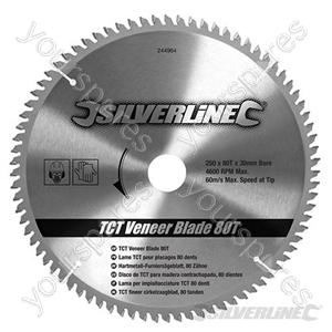 TCT Veneer Blade 80T - 250 x 30 - 25, 20, 16mm Rings