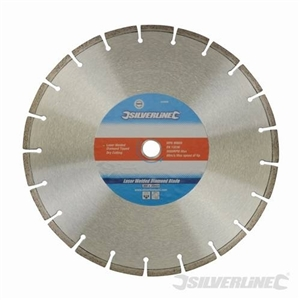 Laser-Welded Concrete & Stone Cutting Diamond Blade - 300 x 20mm Segmented Rim