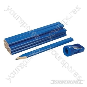 Carpenters Pencils & Sharpener Set 13pce - 13pce