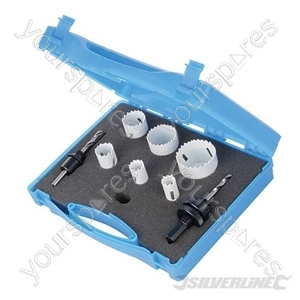 Electricians Bi-Metal Holesaw Kit 9pce - 18 - 51mm Dia