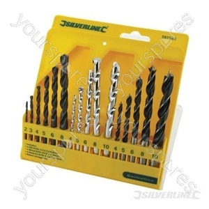 Combi Drill Bit Set 16pce - 4 - 10mm