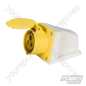 32A Surface-Mountable Socket - 110V 3 Pin