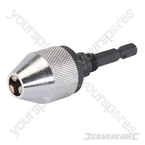 "Quick Change Keyless Chuck - 6.5mm - 1/4"" Hex"