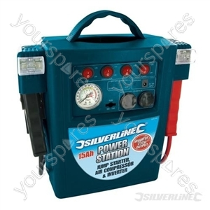 Jump Starter Air Compressor & Inverter - 15Ah