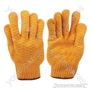 Yellow Gripper Gloves - Large