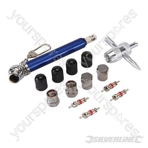 Tyre Valve Repair Kit 14pce - 10 - 50psi