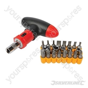 T-Handle Ratchet Screwdriver Set 22pce - 22pce