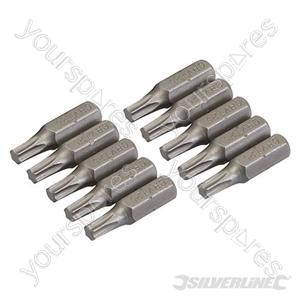 T25 Cr-V Screwdriver Bits 10pk - T25