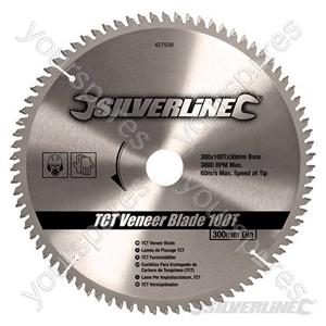 TCT Veneer Blade 100T - 300 x 30 - 25, 20, 16mm Rings