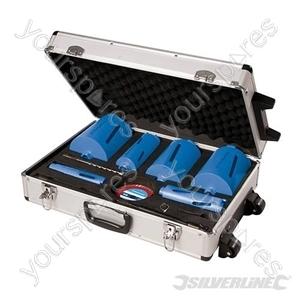 Diamond Core Drill Kit 6-Core 12pce - 38, 52, 65, 107, 117 & 127mm Dia