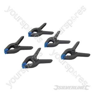 Spring Clamps 5pk - 100mm Jaw