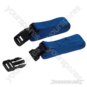 Clip Buckle Straps 2pk - 2m x 25mm