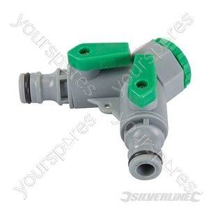 "2-Way Tap Connector - 3/4"" BSP to 1/2"" Male"
