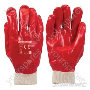 Red PVC Gloves - Large