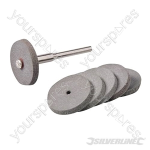 Rotary Tool Rubber Polishing Wheel Set 7pce - 22mm Dia