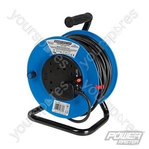 Cable Reel 240V Freestanding - 13A 25m 4 Socket