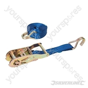 Ratchet Tie Down Strap J-Hook 3m  x 27mm - Rated 350kg Capacity 1000kg